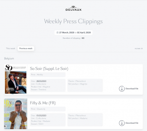 Public Press Clipping Delvaux